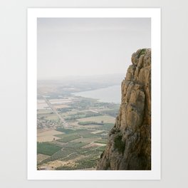 Mt. Arbel and the Sea of Galilee - Holy Land Fine Art Film Photography Art Print