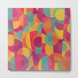 Abstract Circle Pattern - Colorful Dream Metal Print