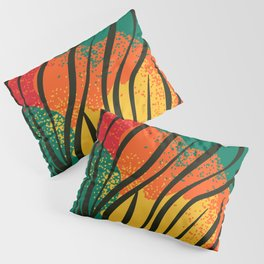 african fabric and animal skin Pillow Sham