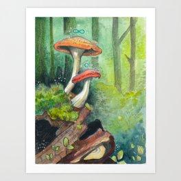 Fungus Magic Art Print