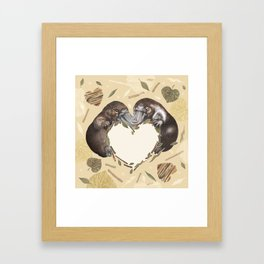 Cute platypus in natural colors Framed Art Print