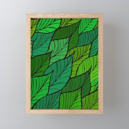 Lush / Leaf Pattern Framed Mini Art Print