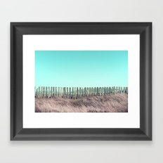 Candy fences Framed Art Print