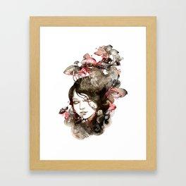 Metamorphosis of a fading memory Framed Art Print