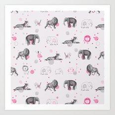 Animal Circus Art Print