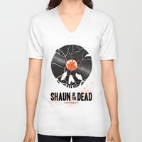 shaun of the dead V-neck T-shirts featuring Shaun of the dead by Wharton