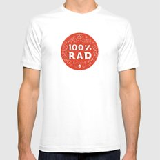 100% Rad White MEDIUM Mens Fitted Tee