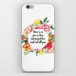 No Fear in Floral iPhone Skin