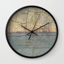 Vintage Utah Beach D-Day Invasion Map (1944) Wall Clock