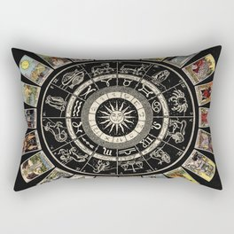 The Major Arcana & The Wheel of the Zodiac Rectangular Pillow