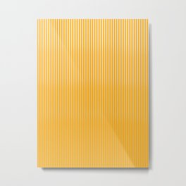 Copper Caramel Stripes Gradient Metal Print