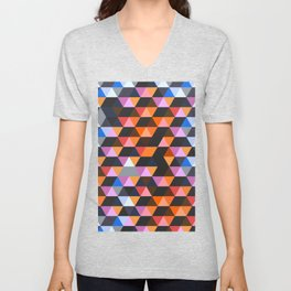 Funky Geometric Unisex V-Neck
