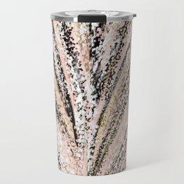 Rose Gold and Glitter Brushstroke Bursts Travel Mug