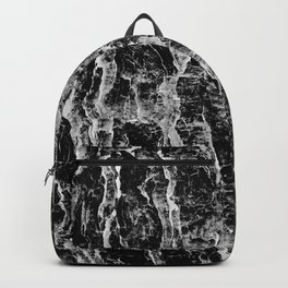 Lava cascade in black and white Backpack