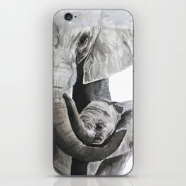 Elephant mom iPhone Skin