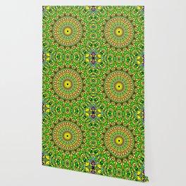 Floral Sun Garden Mandala Wallpaper