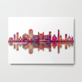 Nagasaki Japan Skyline Metal Print