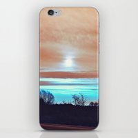 night sky iPhone & iPod Skins featuring Night sky by J's Corner