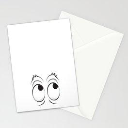 Monster Eyes White Stationery Cards