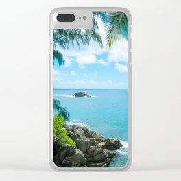 ISLAND BEAUTY Clear iPhone Case