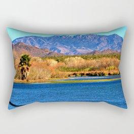 Salt River and Four Peaks Rectangular Pillow