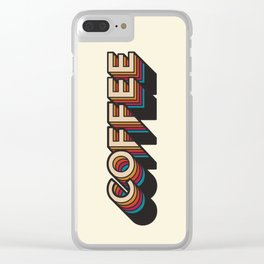 Trippy Coffee Clear iPhone Case