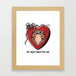 My Heart Pants For You Framed Art Print
