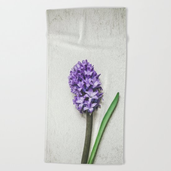 Lilac Hyacinth Beach Towel