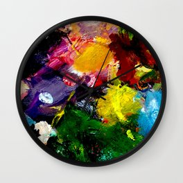 Abstract Palette #3 Wall Clock
