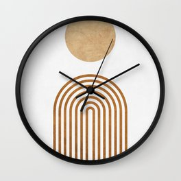 Jazzy Afternoon - Minimal Geometric Abstract - White 1 Wall Clock
