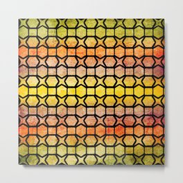 Background. Ethno multicolored grid. Metal Print