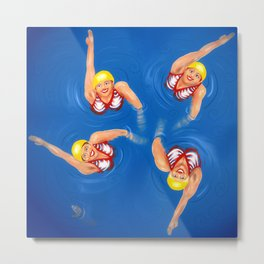 Swimming ladies Metal Print