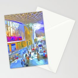 Kings Cross Station London Art Stationery Cards