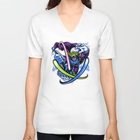 jojo V-neck T-shirts featuring King Jojo by harebrained