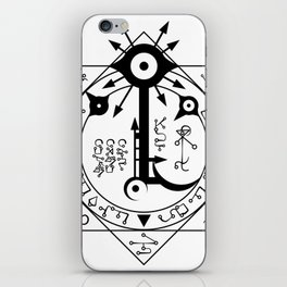 Invisible Sun Symbol on White iPhone Skin