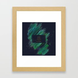 These pictures are my heart... Julian Blackthorn Framed Art Print