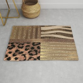 Gold Lioness Safari Chic Rug