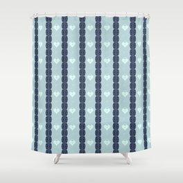 Blue Locket Shower Curtain