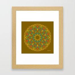 Bienvenida a Marte (Ocre) Framed Art Print