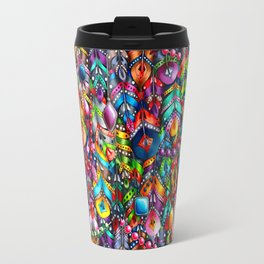 Boho feathers and gems Travel Mug