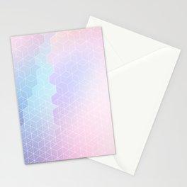 Geometric pastel vibes pattern 1 #pattern #decor #abstractart Stationery Cards