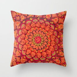 Mandala on copper plate 2 Throw Pillow