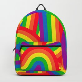 Colorful Rainbow Stripes Pattern Backpack
