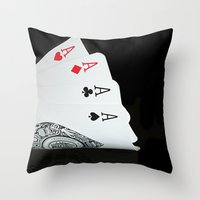 ace Throw Pillows featuring ACE!!!! by Brian Raggatt