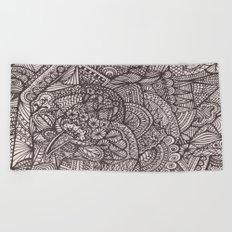 Doodle 8 Beach Towel