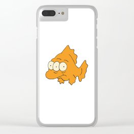 Three Eyed Fish Clear iPhone Case