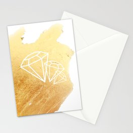 Faceted Gold Stationery Cards