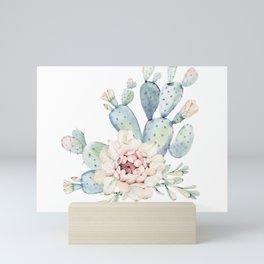 Perfect Cacti Rose Mini Art Print
