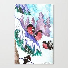 Winter Birds Canvas Print