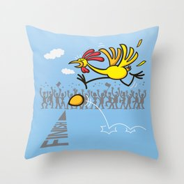 Chicken and egg, scrambled forever in an eternal tie? Throw Pillow